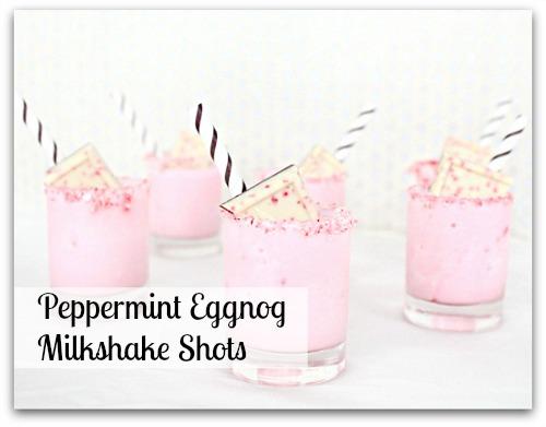 Peppermint Eggnog Milkshake Shots