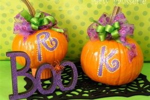 {DIY} Monogram Pumpkins