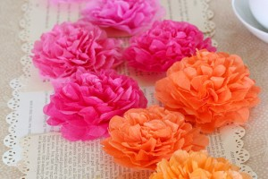 Tissue Paper Flower Runner