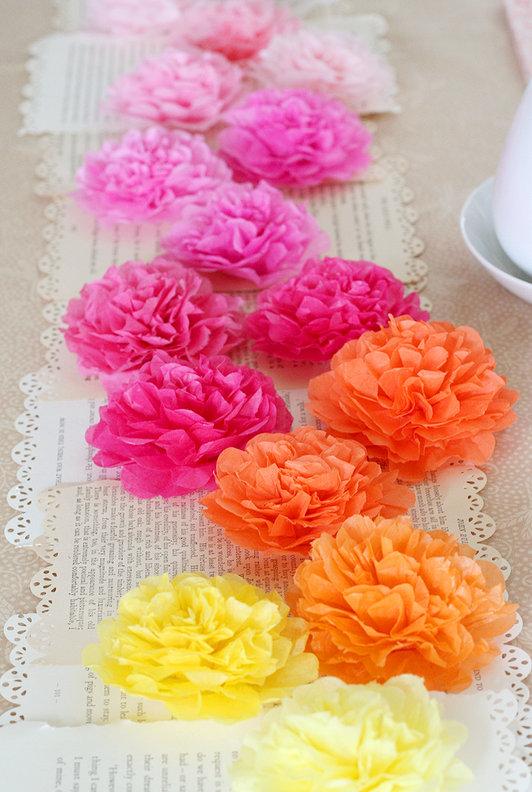 Tissue Paper Flower Runner