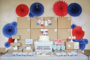 {Party Themes} First Class Post Office Mail Party
