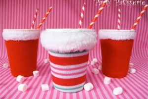 Christmas Sock Cup Cozies