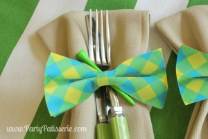 Bow Tie Napkin Rings DIY~Father's Day Celebration