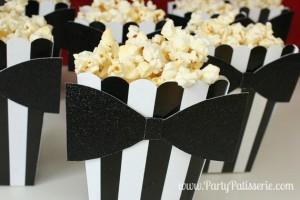 Black & White Striped Bowtie Boxes