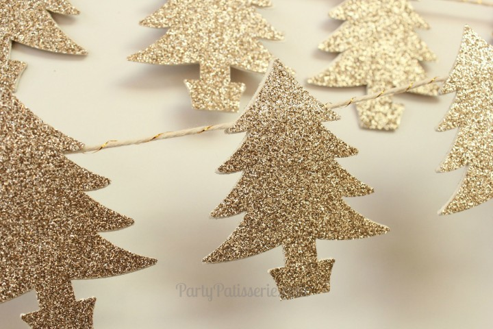 Glitter Tree Garland Sparkly Christmas