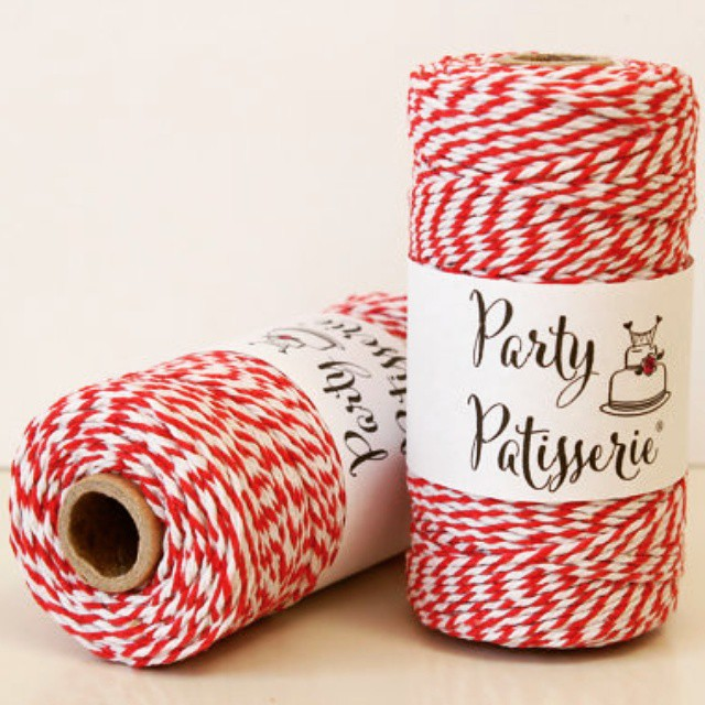 This sweet twine will put the finishing touch on your Valentine treats. Get it for 15% off with code VAL15 at etsy.com/shop/PartyPatisserie !