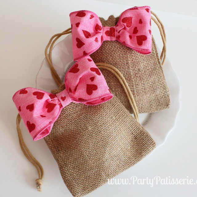 These adorable bags are perfect for holding all kinds of Valentine's treats. Get them for 15% off when you use code VAL15 at etsy.com/shop/PartyPatisserie #ValentinesDay #Valentine