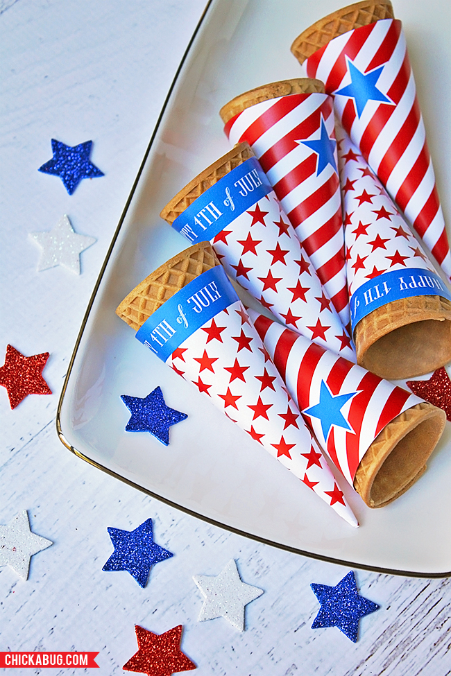 4th_of_July_Ice_Cream_Cone_Wrappers