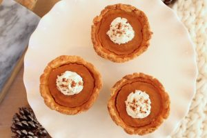 Mini gluten-free pumpkin pies