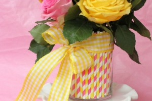 Pretty Party Straw Centerpiece
