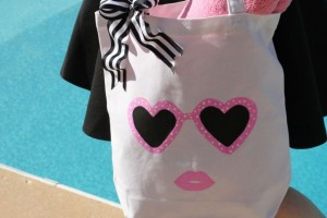 DIY Sunglasses Tote Bag