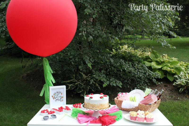 strawberry birthday party